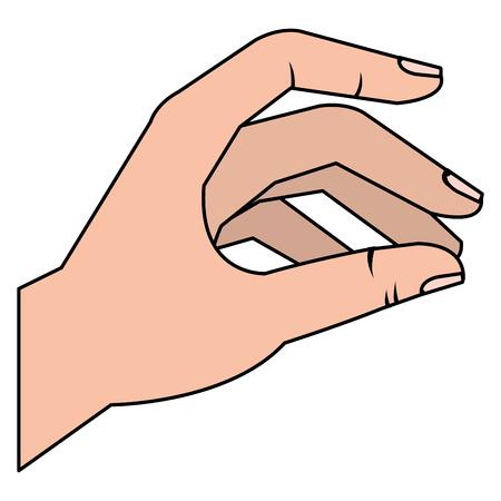 la mano del hombre que coge el icono ilustración vectorial de diseño