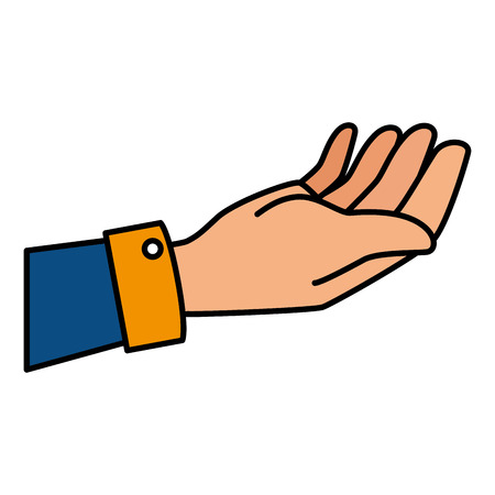 human hand receiving icon vector illustration design