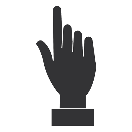 human hand touching icon vector illustration design Фото со стока - 85687696
