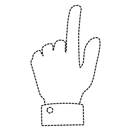 human hand touching icon vector illustration design Фото со стока - 85687714