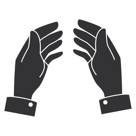 人間の手キャッチアイコンベクトルイラストデザイン