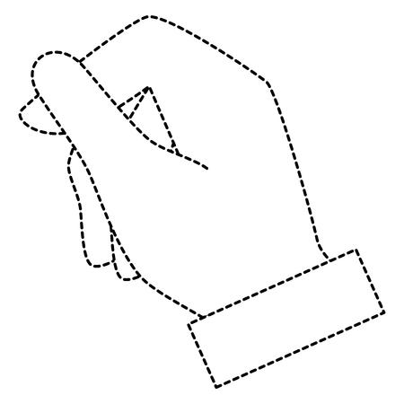 Menselijke hand vangen pictogram vector illustratie ontwerp Stockfoto - 85687727