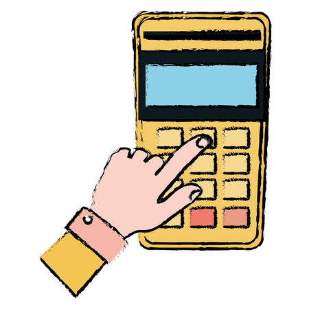 hands human with voucher machine isolated icon vector illustration design