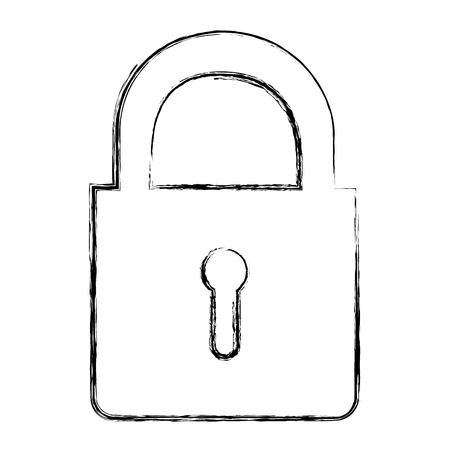 private security: safe secure padlock icon vector illustration design