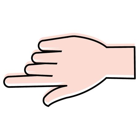 人間の手に触れるアイコンベクトルイラストデザイン  イラスト・ベクター素材