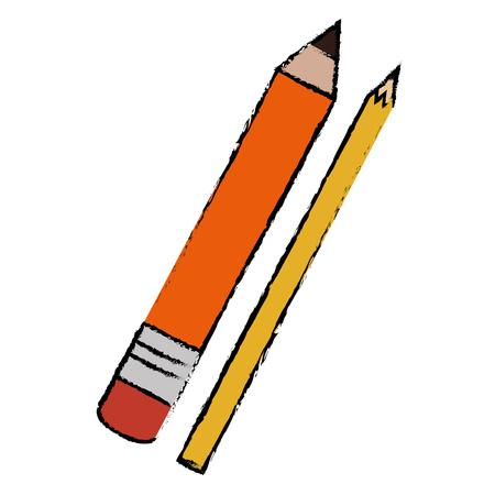 pencil school with colors vector illustration design Illustration