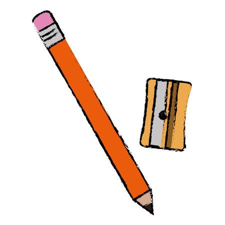 sharpener school with pencil vector illustration design