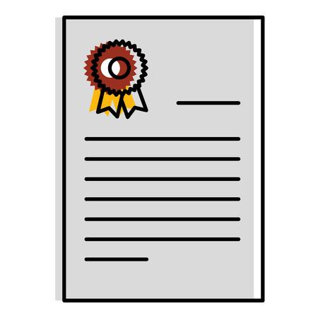 Diploma de graduación aislado icono ilustración vectorial diseño Foto de archivo - 85688066