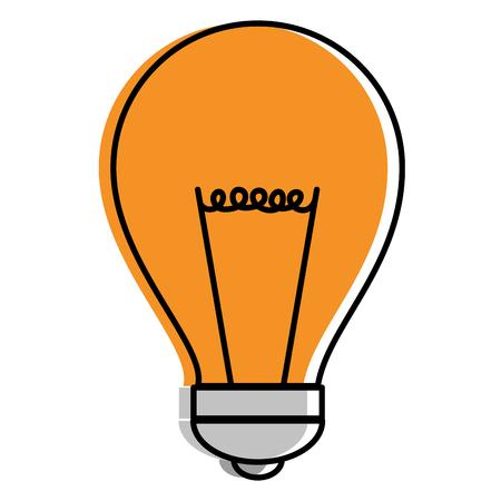 電球の光分離アイコンベクトルイラストデザイン