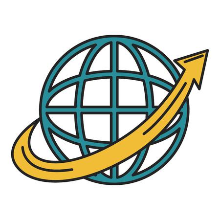 矢印アイコンベクトルイラストデザインの惑星