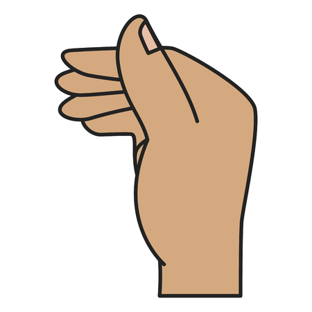 Menselijke hand vangen pictogram vector illustratie ontwerp Stockfoto - 85687850