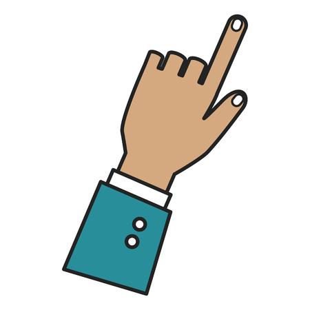 人間の手触りアイコンベクトルイラストデザイン