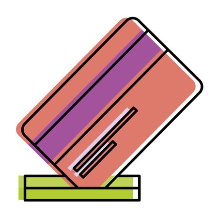 credit card with slot vector illustration design Иллюстрация
