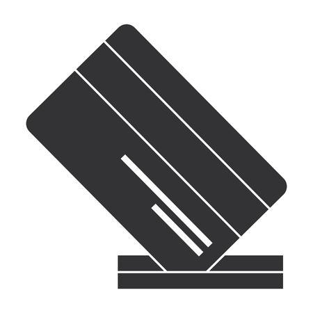 credit card with slot vector illustration design Ilustração