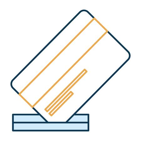 credit card with slot vector illustration design 向量圖像