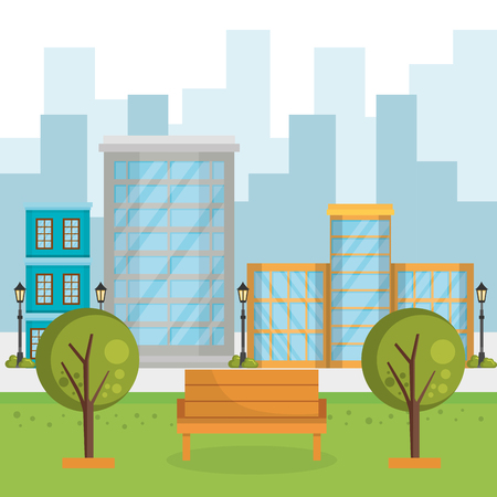buildings with cityscape scene vector illustration design Ilustracja