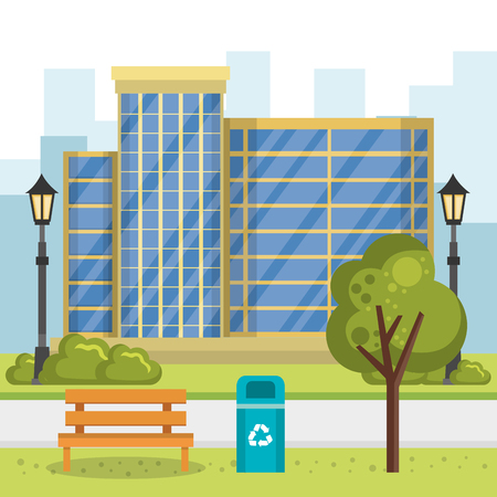 buildings with cityscape scene vector illustration design Zdjęcie Seryjne - 85688040