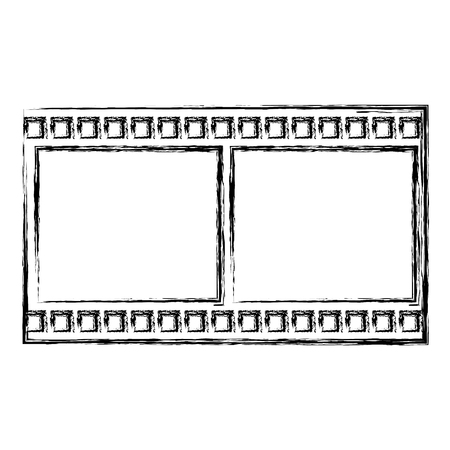rectangle: tape film isolated icon vector illustration design