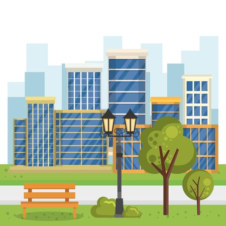 buildings with cityscape scene vector illustration design Zdjęcie Seryjne - 85690973