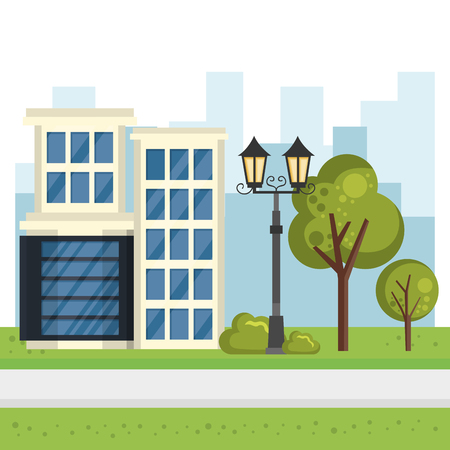 buildings with cityscape scene vector illustration design Zdjęcie Seryjne - 85690999