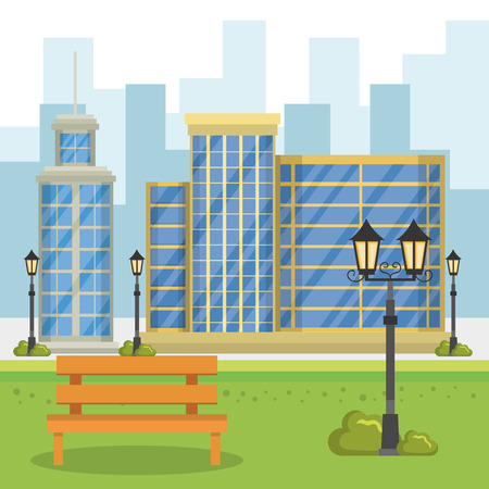 buildings with cityscape scene vector illustration design Zdjęcie Seryjne - 85691002