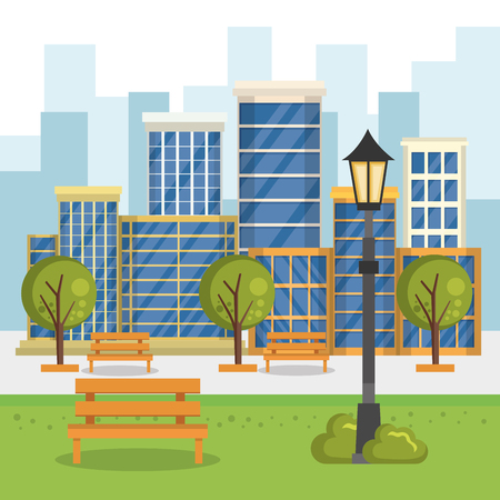 buildings with cityscape scene vector illustration design Stock Vector - 85691005