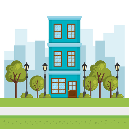 buildings with cityscape scene vector illustration design Zdjęcie Seryjne - 85691006