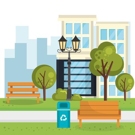 buildings with cityscape scene vector illustration design Zdjęcie Seryjne - 85691007