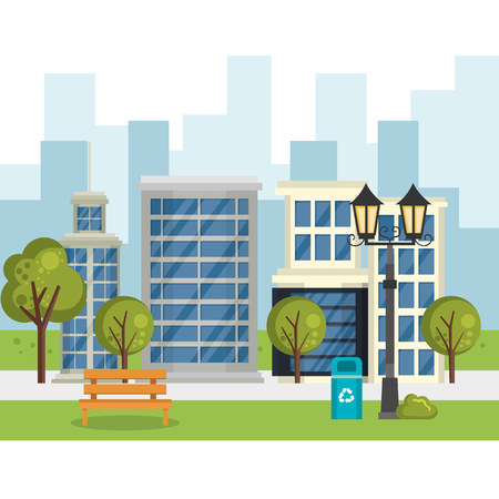 buildings with cityscape scene vector illustration design Ilustracja