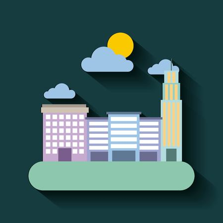the city building residential architecture vector illustration Illustration