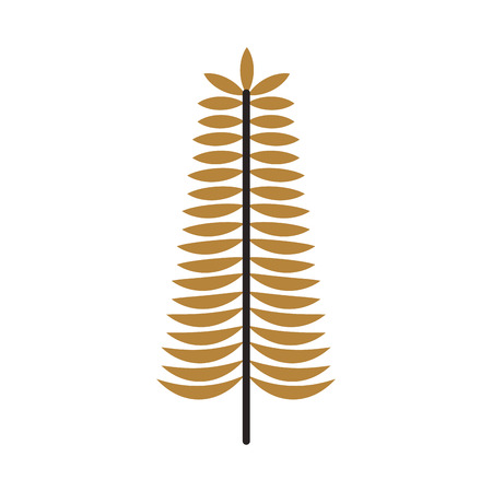 golden branch christmas decoration ornament vector illustration