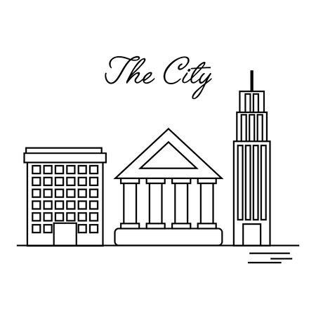 the city building residential architecture vector illustration Ilustração