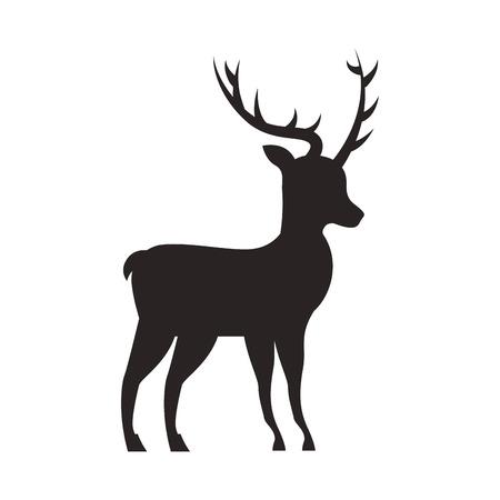 Kerst herten dierlijke gehoornde decoratie vector illustratie
