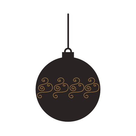 christmas ball hanging decoration celebration vector illustration