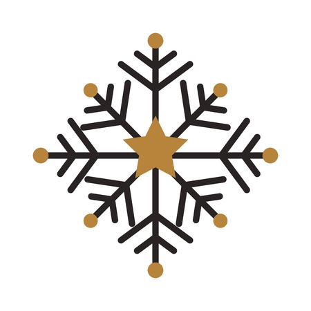 christmas snow snowflake winter decoration golden vector illustration 向量圖像