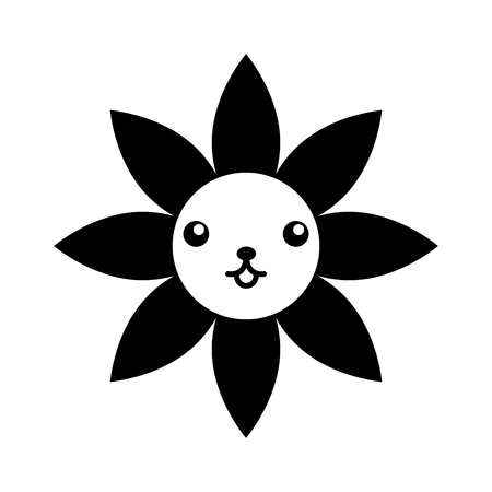 Fleur de noël naturel décoration bande dessinée illustration vectorielle Banque d'images - 85808695