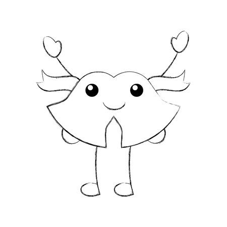 kawaii christmas bell ribbon bow decoration ornament vector illustration Stock Vector - 85808717