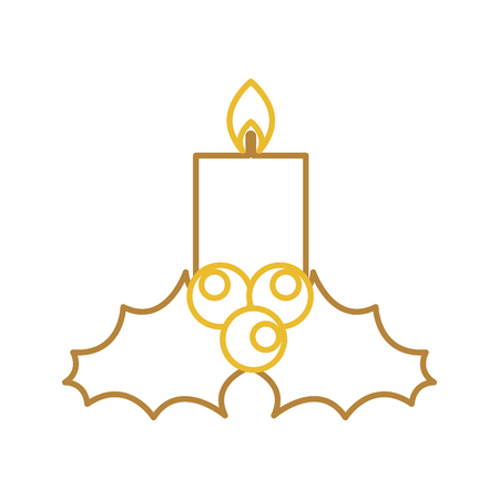 candle christmas flower decoration festive vector illustration Stock fotó - 85808743