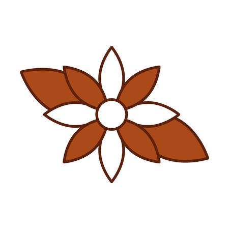 christmas flower poinsettia decoration celebration vector illustration