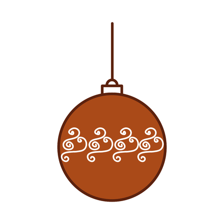 christmas ball hanging decoration celebration vector illustration
