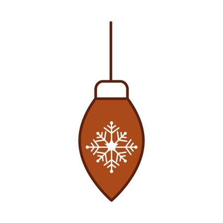 クリスマスボール吊りデコレーションお祝いベクトルイラスト  イラスト・ベクター素材