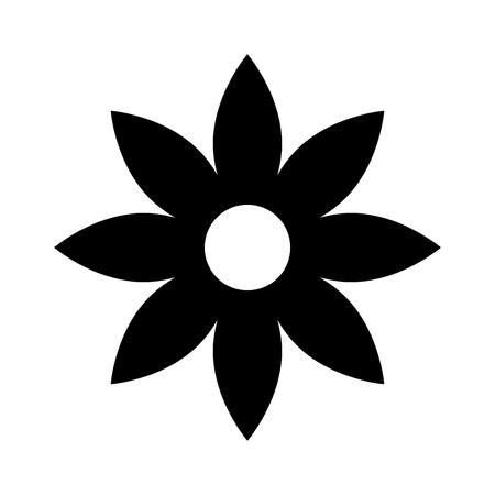 Fleur de noël naturel décoration bande dessinée illustration vectorielle Banque d'images - 85808758