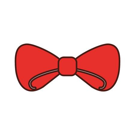 bow ribbon decoration christmas festive celebration vector illustration