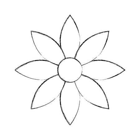 lapin: christmas flower natural decoration cartoon vector illustration