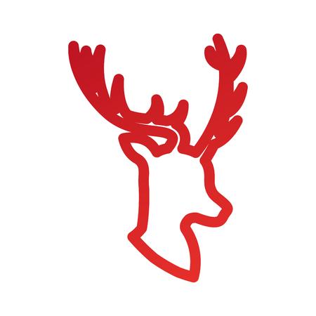 Illustrazione vettoriale di decorazione animale animale cornuto di natale Archivio Fotografico - 85849159