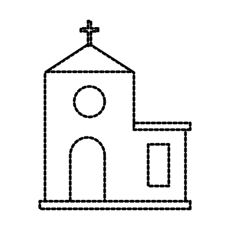 church building cartoon christmas celebration vector illustration