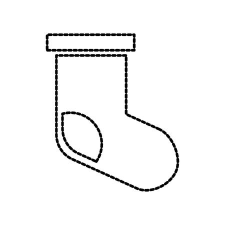 Weihnachtssockengeschenk-Dekorationsvektorillustration Standard-Bild - 85849167