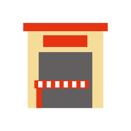 建物外駐車サービスパブリックベクトルイラスト