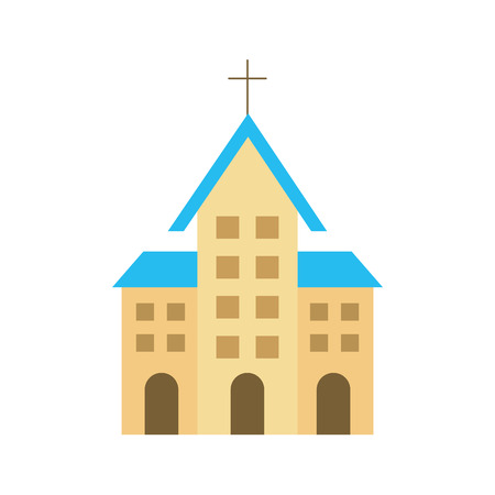 church building christian religion architecture vector illustration Stock fotó - 85808821