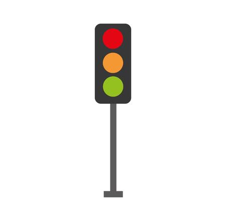 traffic lights electric equipment control vector illustration